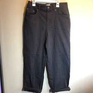 vintage high waisted dark brown jeans size 10p